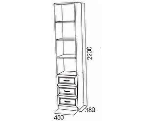 Купить шкаф SV-мебель Пенал с ящиками SV-мебель Вега ДМ-12