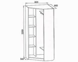 Купить шкаф SV-мебель Вега ВМ-07 (ДМ-01) угловой