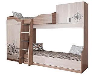 Купить кровать SV-мебель Город (80х200) двухярусная