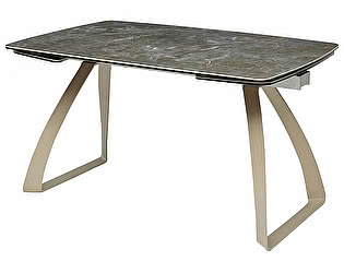 "Купить стол M-City ECLIPSE 137 "" мрамор малахит"" HT-055"