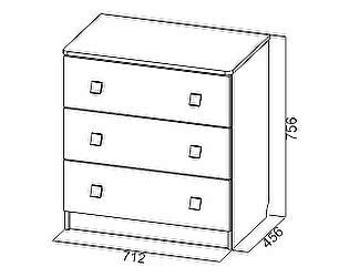 Купить комод SV-мебель Сити-1 (3 ящика)
