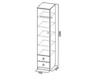 Купить шкаф SV-мебель Пенал универсальный Сити-1