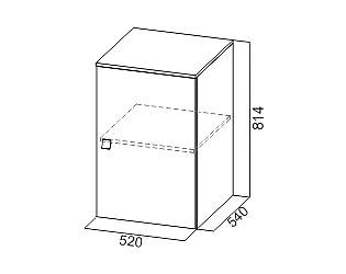 Купить шкафчик SV-мебель Сити-1 верхний