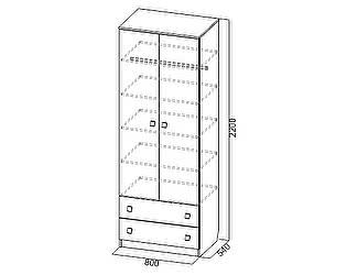 Купить шкаф SV-мебель Сити-1 двустворчатый универсальный