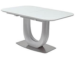 Купить стол M-City FLORIDA 140 WHITE матовое стекло