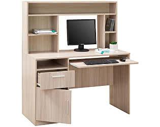 Купить стол Боровичи-мебель компьютерный с настольной полкой 1260, арт.10.06