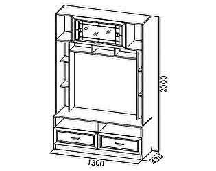 Купить гостиную SV-мебель Вега ВМ-11 для телевидеоаппаратуры