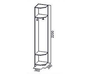Купить стеллаж SV-мебель Вега ВМ-18 (с вешалкой)