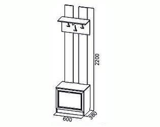 Купить вешалку SV-мебель Вега ВМ-24