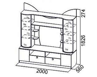 Купить гостиную SV-мебель Гамма-15 для телевидеоаппаратуры