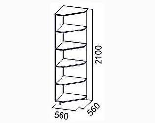 Купить стеллаж SV-мебель Угловое окончание Гамма-15