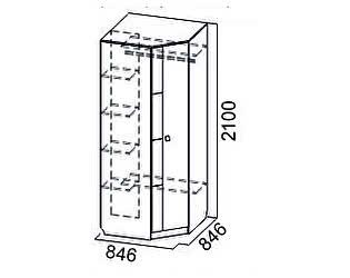 Купить шкаф SV-мебель Гамма-15 угловой