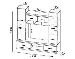 Купить гостиную SV-мебель Гамма-19 для телевидеоаппаратуры