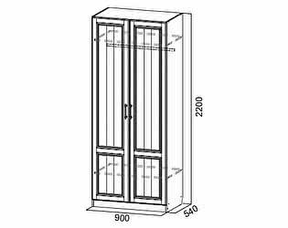 Купить шкаф SV-мебель двустворчатый Прованс