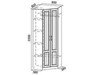 Купить шкаф SV-мебель угловой Прованс