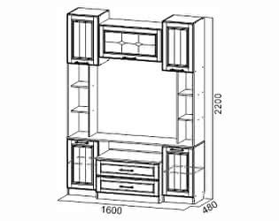 Купить гостиную SV-мебель для телевидеоаппаратуры Прованс
