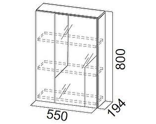Купить шкафчик SV-мебель с зеркалом SV-мебель Визит-1 (МДФ) (навесной)