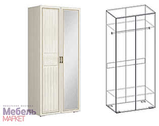 Купить шкаф Мебель Маркет Виктория 2х створчатый левый (440)
