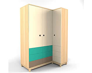 Купить шкаф 38 попугаев Робин Вуд угловой гармошка