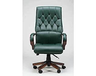 Купить кресло Норден Честер зеленая экокожа,дерево