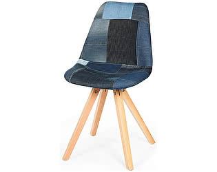 Купить стул Норден Лестер Джинс ножки бук накидка джинс