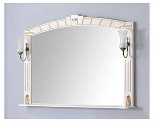 Купить зеркало Atoll Шкаф зеркальный Александрия 130 двойная
