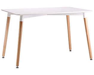 Купить стол M-City TANSY 140 белый/массив бука