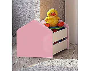 Купить  Фанки Кидз Ящик для игрушек Волшебный город ДС-4/1 белый/цветные боковины