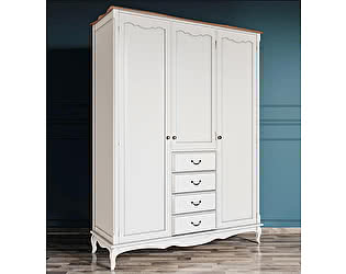 Купить шкаф Этaжepкa Leontina для одежды 3х створчатый 4 ящика, арт.ST9327/34