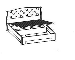 Купить кровать Santan Эйми КРП-1702 (140)