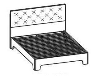 Купить кровать Santan Луна КР-1204 (180)