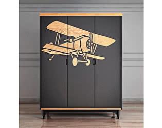 Купить шкаф Этaжepкa Travel 3х створчатый с самолетом, TRV05G