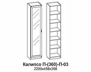 Купить шкаф Santan Калипсо П-(360)-П-03-З