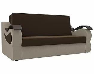 Купить диван Мебелико Меркурий микровельвет коричневый/бежевый