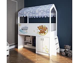 Купить кровать Фанки Кидз чердак Домик Сказка ДС-12 с лесенкой (фотопечать)
