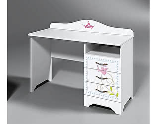 Купить стол Фанки Кидз Синдерелла С-08 письменный (тумба справа)