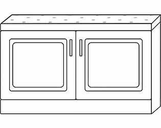 Купить тумбу Мебель Холдинг Ждана 900 (мод.12), 2 двери/мягкое сидение (утяжка пуговицами)