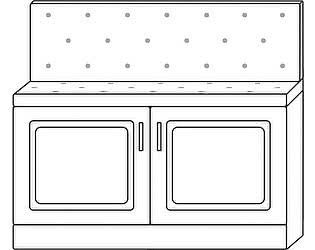 Купить тумбу Мебель Холдинг Ждана 900 (мод.14), 2 двери/мягкое сидение/спинка (утяжка пуговицами)