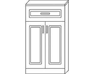 Купить тумбу Мебель Холдинг Ждана 600 высокая (мод.17) 2 двери/1 ящик