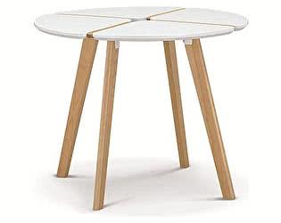 Купить стол M-City JASMINE D90 белый/массив бука