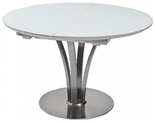 Купить стол M-City KANSAS D120 WHITE MATT GLASS белый матовый М-City