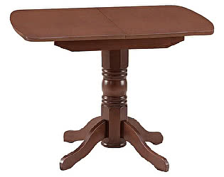 Купить стол Боровичи-мебель массив раздвижной овальная крышка 750х1100