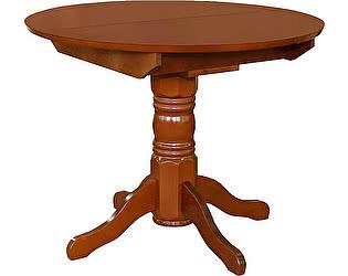 Купить стол Боровичи-мебель массив раздвижной круглая крышка 1000х1100