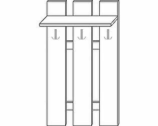 Купить вешалку Мебель Холдинг Ждана (мод.37) ЛДСП 3 крючка наборная 800/1374