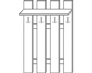 Купить вешалку Мебель Холдинг Ждана (мод.38) ЛДСП 4 крючка наборная 900/1374