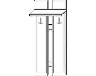 Купить вешалку Мебель Холдинг Ждана (мод.40) МДФ 2 крючка наборная 600/1630
