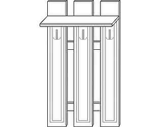 Купить вешалку Мебель Холдинг Ждана (мод.41) МДФ 3 крючка наборная 800/1630