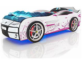 Купить кровать Romack Kiddy Белая - Розовая лоза