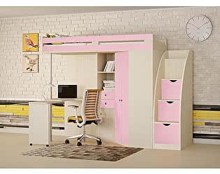 Купить кровать РВ Мебель чердак М-85 (лесница-комод с дверками)