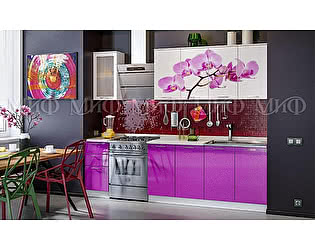 Купить кухню Миф Орхидея 2000 МДФ с фотопечатью